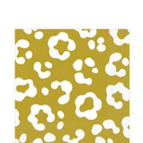Gold Cheetah Print Lunch Napkins 36ct
