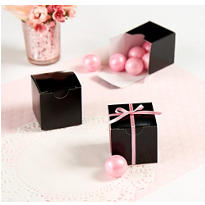 Black Favor Boxes