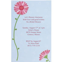 Pink Gerbera Printable Bridal Shower Invitations 12ct