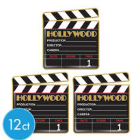 Hollywood Clapboard Cutouts 12ct