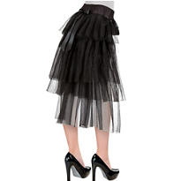 Long Tulle Bustle Skirt