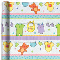 Jumbo Baby Snapsuits Gift Wrap 16ft
