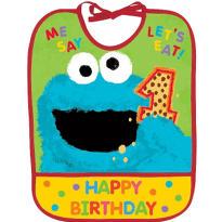 1st Birthday Sesame Street Bib