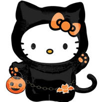 Foil Halloween Hello Kitty Balloon 25in