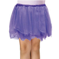 Girls Purple Tulle Skirt