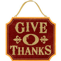 Thanksgiving Glitter Sign 13in