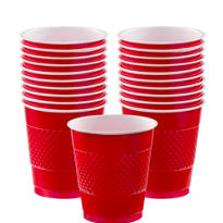 Red Plastic Cups 20ct