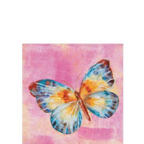 Papillon Pink Beverage Napkins 20ct