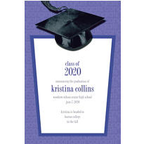 Purple Congrats Grad Custom Graduation Announcement