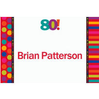 Birthday Dots & Stripes 80 Custom Thank You Note