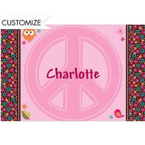 Hippie Chick Custom Thank You Note