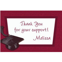 Custom Berry Congrats Grad Thank You Notes