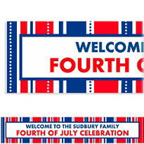 American Summer Stripes Custom Banner 6ft