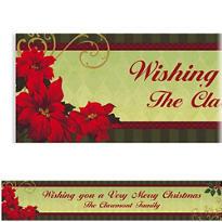 Custom Vintage Poinsettia Banner 6ft
