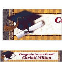 Custom Golden Grad Banner 6ft