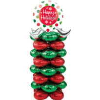 Christmas Balloon Column Centerpiece 72in x 35in x 35in