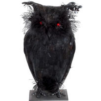 Light-Up Creepy Owl 12in
