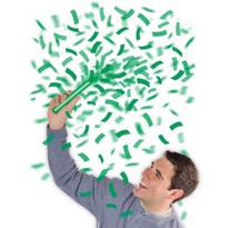 Green Flutter Confetti Wands 6ct