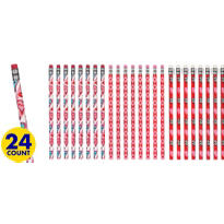 Trendy Valentines Day Assorted Pencils 24ct<span class=messagesale><br><b>25¢ per piece!</b></br></span>