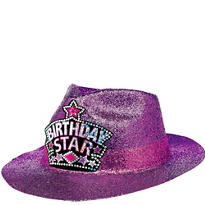 Birthday Glitter Fedora Hat
