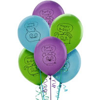 Latex Uglydoll Balloons 12in 6ct