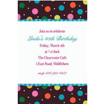 Glitter Dots Custom Invitation