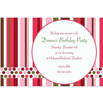 Party Stripe Custom Invitation