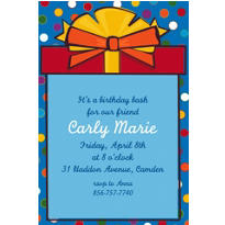 Polka Dot Present Custom Invitation