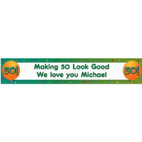 Life is Great 50 Custom Banner 6ft