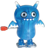 Glitter Blue Uglydoll Ice Bat Windup Toy