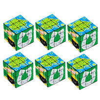 St. Patricks Day Puzzle Cubes 6ct