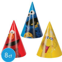 Sesame Street Party Hats 8ct