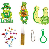 St. Patricks Day Backpack Clip Party Pack 6ct