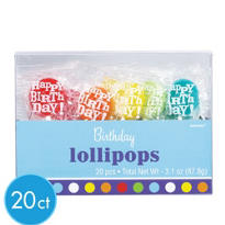 Birthday Fever Lollipops 20ct