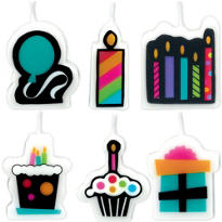 Party On Mini Candle 6ct