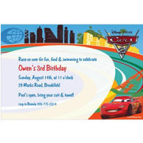 Cars 2 Custom Invitation