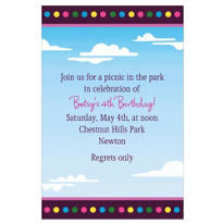 Clouds & Dots Custom Invitation