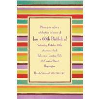Crafty Stripe Custom Invitation