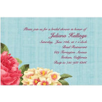 Blissful Blooms Custom Invitation