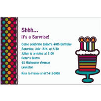 Party On Celebration Custom Invitation