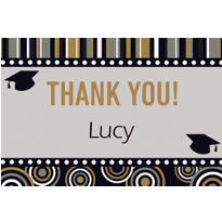 Grad Inspiration Custom Thank You Note