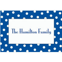 Blue Polka Dot Custom Thank You Note