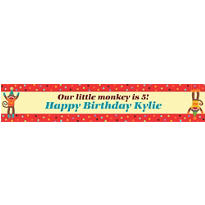Monkey Party Custom Banner 6ft