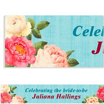 Blissful Blooms Custom Banner 6ft