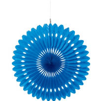 Royal Blue Paper Fan Decoration 16in
