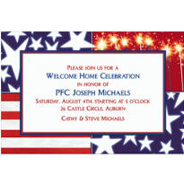 Star Spangled Banner Welcome Home Custom Invitation