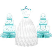 Robin's Egg Blue Wedding Honeycomb Centerpieces 3pc