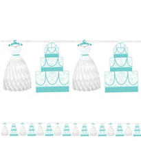 Robin's Egg Blue Honeycomb Wedding Garland 12ft