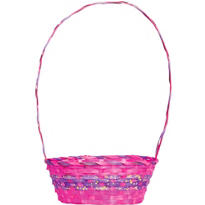Pink and Purple Paint Splatter Easter Basket