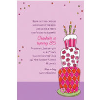 Lovely Birthday Cake Custom Invitation